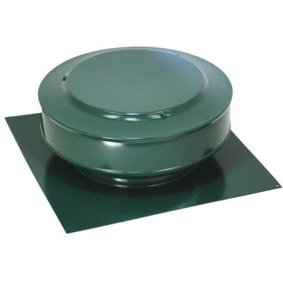 13 in. x 5 in. Aluminum 8 in. Dia. Low Profile 50 sq. in. NFA Roof Vent in Green Powder Coat