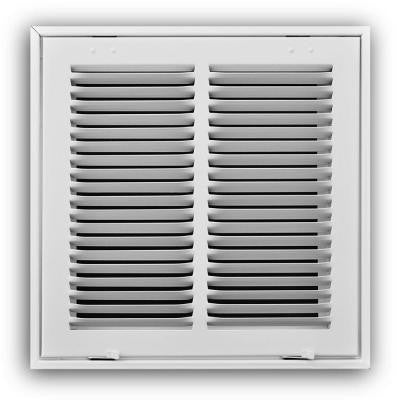 16 in. x 16 in. Steel White Return Air Filter Grille