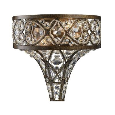 Amherst 10.5 in. 2-Light Antique Bronze Sconce
