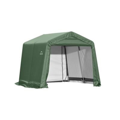 11 ft. x 16 ft. x 10 ft. Green Cover Peak Style Shelter