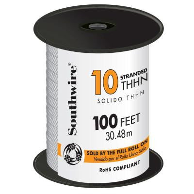 100 ft. 10 Stranded THHN Wire White