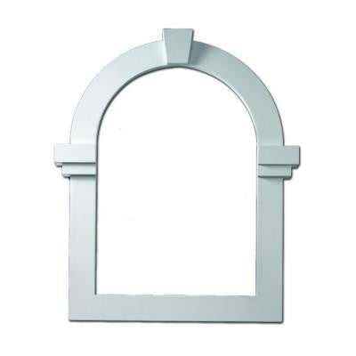 22-3/16 in. x 31-11/16 in. x 1 in. Polyurethane Decorative Trim for Cathedral Louver Gable Vent