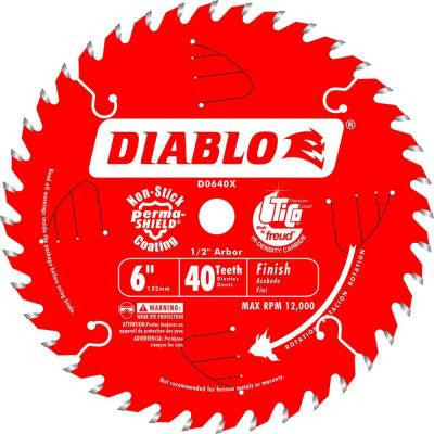 6 in. x 40-Tooth Finish Saw Blade for Saw Boss