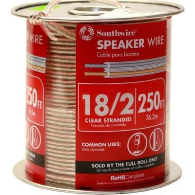 18-2 Speaker Wire Clear (By-the-Foot)