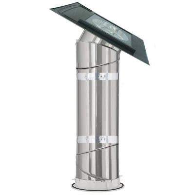 14 in. Flat Glass SUN TUNNEL Tubular Skylight with Rigid Tunnel and Low Profile Flashing