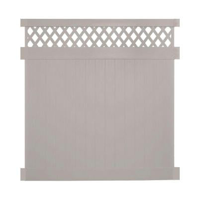 Colfax 7 ft. x 6 ft. Tan Vinyl Privacy Fence Panel