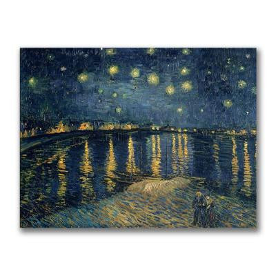 14 in. x 18 in. The Starry Night II Canvas Art