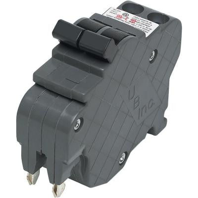 Thin 15-Amp 1 in. Double-Pole Type F UBI Replacement Circuit Breaker