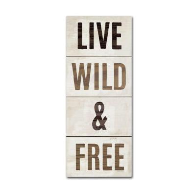 "32 in. x 14 in. ""Live Wild and Free"" by Michael Mullan Printed Canvas Wall Art"