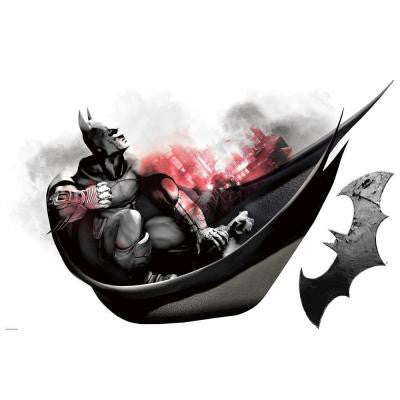 2.5 in. x 21 in. Batman Arkham City Darkness Wall Graphix 2-Piece Peel and Stick Giant Wall Decal