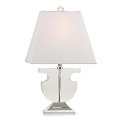Bailey Mews 17 in. Clear Table Lamp with Shade