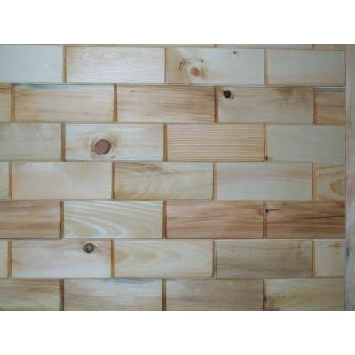 3 in. x 8 in. Prefinished Northeastern White Pine Wooden Wall Tile