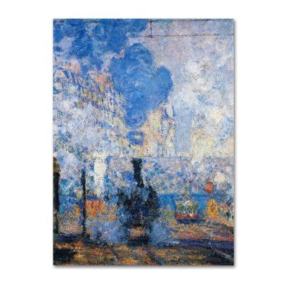 "35 in. x 47 in. ""Saint Lazare Station"" Canvas Art"
