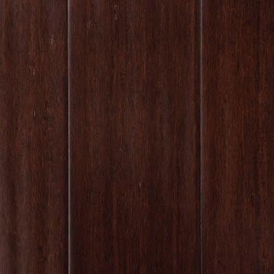 Hand Scraped Strand Woven Walnut 3/8 in. x 4.9 in. x 72-7/8 in. Length Click Lock Bamboo Flooring (29.86 sq. ft. / case)