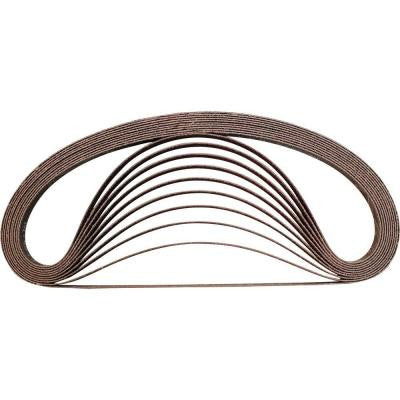 3/8 in. x 21 in. 80-Grit Abrasive Belt (10-Pack)