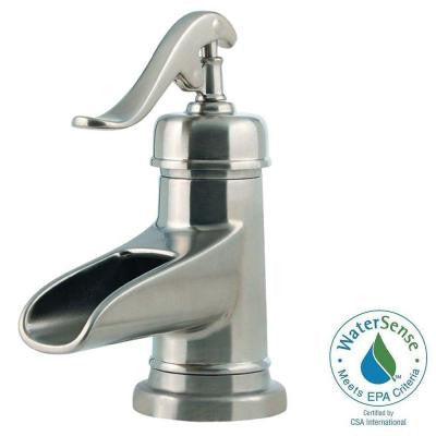 Ashfield 4 in. Centerset Single-Handle High-Arc Bathroom Faucet in Brushed Nickel