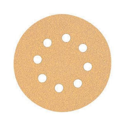 5 in. 8 Hole 80 Grit H and L Random Orbit Sandpaper 5 Pack