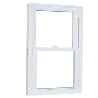 33.25 in. x 64.25 in. 70 Series Double Hung Buck PRO Vinyl Window - White