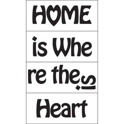 8.56 in. x 19.88 in. Black Home Is Where The Heart Is Wall Decal