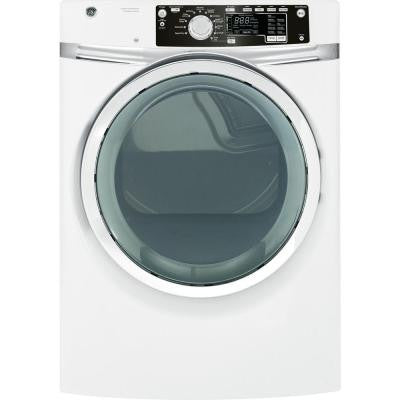 8.1 cu. ft. Gas Dryer with Steam in White
