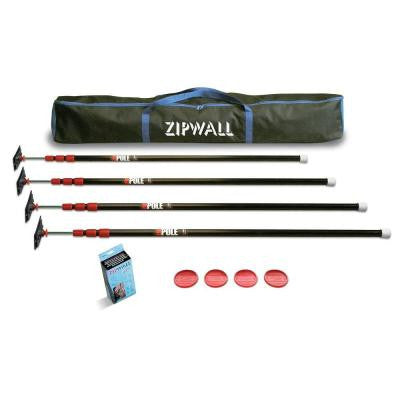 10 ft. ZP4 ZipPole Spring-Loaded Poles for Dust Barriers, 4-Pack