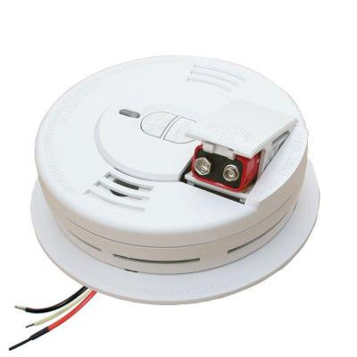 Hardwired 120-Volt Inter Connectable Smoke Alarm With Battery Backup Includes Universal Adapters