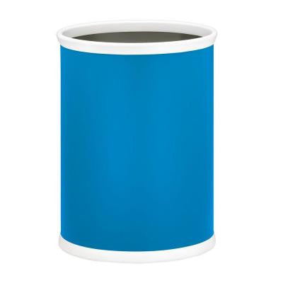 13 in. Process Blue Oval Mylar Trash Can