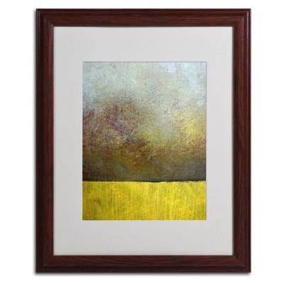 16 in. x 20 in. Earth Study II Matted Framed Wall Art