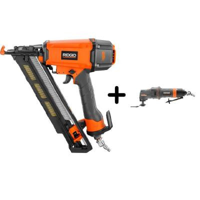 15-Gauge 2-1/2 in. Angled Nailer and Pneumatic JobMax Multi-Tool Starter Kit