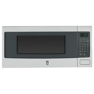 Profile 1.1 cu. ft. Countertop Microwave in Stainless Steel