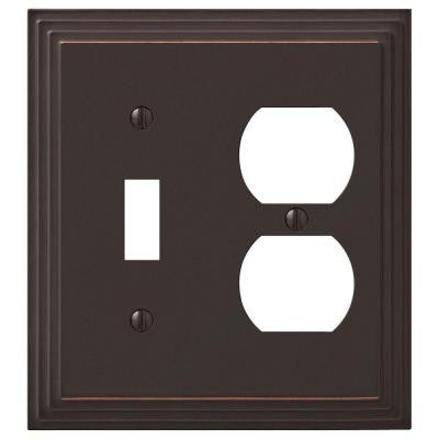 Steps 1 Toggle 1 Duplex Wall Plate - Aged Bronze