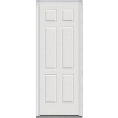 36 in. x 96 in. 6-Panel Painted Majestic Steel Prehung Front Door