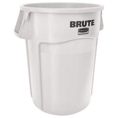 BRUTE 44 gal. White Round Vented Trash Can