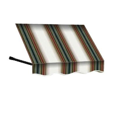 40 ft. Santa Fe Window/Entry Awning Awning (44 in. H x 36 in. D) in Burgundy / Forest / Tan Stripe