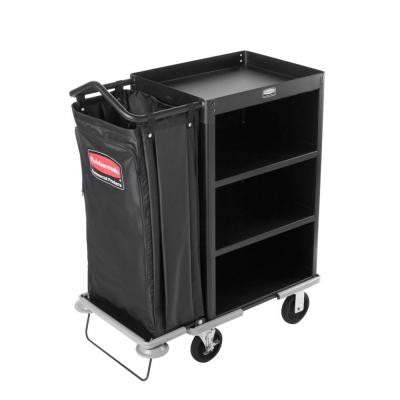 Executive Series Compact 3-Shelf High Capacity Housekeeping Cart