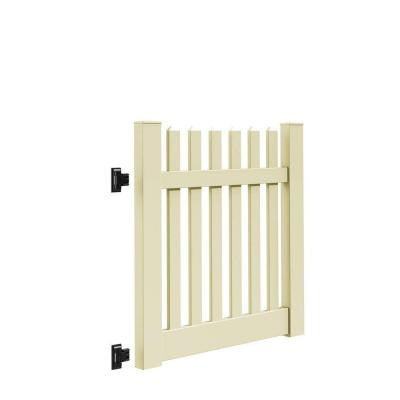 Kettle Straight 4 ft. x 4 ft. Sand Vinyl Un-Assembled Fence Gate
