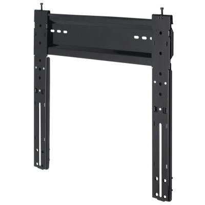 1/2 in. Medium/Metallic Black Wall Mount for Flat to Wall 25-47 in. Screens Perfect for Slim LED and LCD TVs