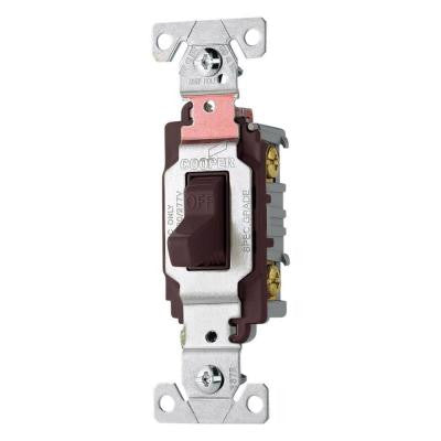 20-Amp Double Pole Premium Toggle Switch - Brown