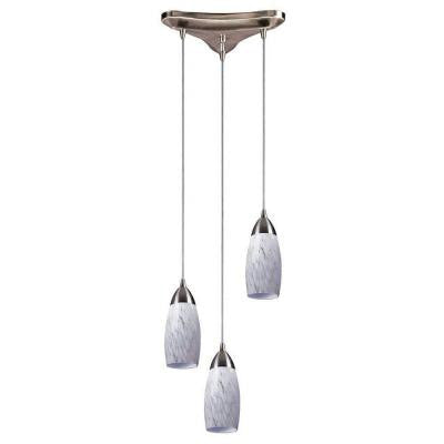 Milan 3-Light Satin Nickel Ceiling Pendant