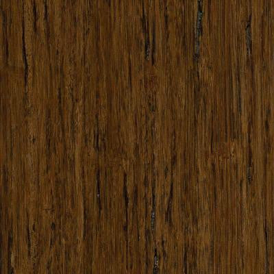Brushed Strand Woven Burnt Umber 3/8 in. Thick x 5 in. Wide x 36 in. Length Click Lock Bamboo Flooring (25 sq.ft./case)