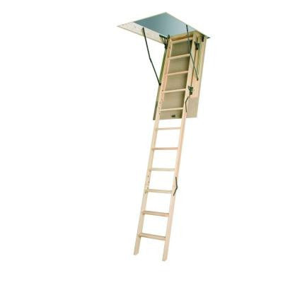 LWN-P - 7 ft. 8 in - 10 ft. 1 in. 22-1/2 in x 54 in., Wood Attic Ladder with 300 lb. Max. Load Capacity ANSI Certified