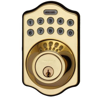 RemoteLock WiFi Electronic Single Cylinder Polished Brass Deadbolt Door Lock