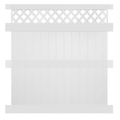 Colfax 8 ft. x 6 ft. White Vinyl Privacy Fence Panel