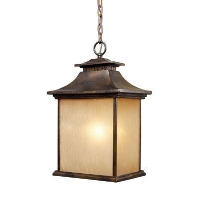 San Gabriel 1-Light Hazelnut Bronze Outdoor Pendant