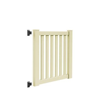 Ohio 4 ft. x 4 ft. Sand Vinyl Un-Assembled Fence Gate