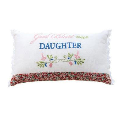 God Bless Our Daughter 20 in. W Decorative Kids Pillow