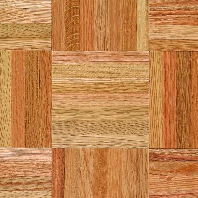 American Home 5/16 in. Thick x 12 in. Wide x 12 in. Length Natural Oak Parquet Hardwood Flooring (25 sq. ft. / case)