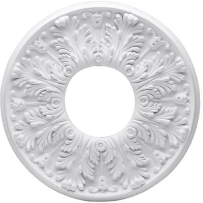 Victorian 16 in. White Ceiling Medallion (2-Piece)