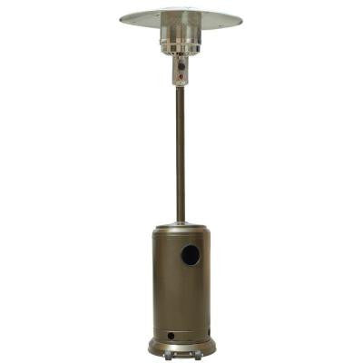 41,000 BTU Stainless Steel and Gold Hammered Propane Gas Patio Heater