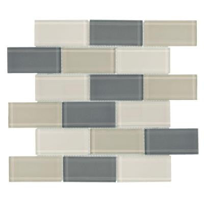 Rocky Canyon 12 in. x 12 in. 8 mm Glass Mosaic Wall Tile